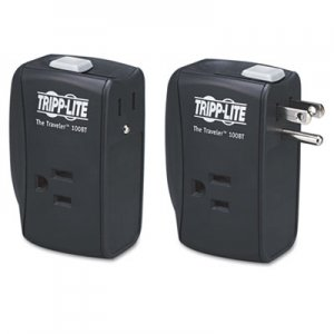 Tripp Lite Protect It! Two-Outlet Portable Surge Suppressor, 1050 Joules, Black TRPTRAVLER100BT TRPTRAVLER100BT TRAVELER100BT