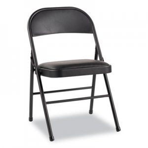 Alera Steel Folding Chair with Two-Brace Support, Padded Seat, Graphite, 4/Carton ALEFC94VY10B