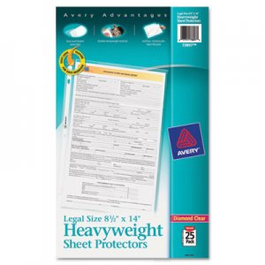 Avery Top-Load Polypropylene Sheet Protector, Heavy, Legal, Diamond Clear, 25/Pack AVE73897 73897