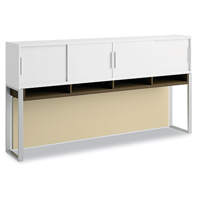 "Bush Momentum Collection 72"" Overhead w/Doors, White/Mocha Cherry BSH34H72MR 34H72MR"