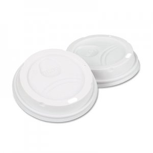 Dixie Dome Drink-Thru Lids,10-16 oz Perfectouch;12-20 oz WiseSize Cup, White, 50/Pack DXE9542500DXPK 9542500DX