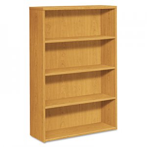 HON 10500 Series Laminate Bookcase, Four-Shelf, 36w x 13-1/8d x 57-1/8h, Harvest HON105534CC H105534.CC