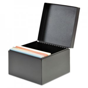 SteelMaster Index Card File, Holds 500 4 x 6 Cards, Black MMF263644BLA 263644BLA