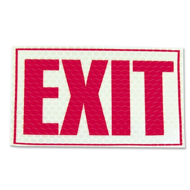 LC Industries Luminous Exit Sign 151832 MLE151832