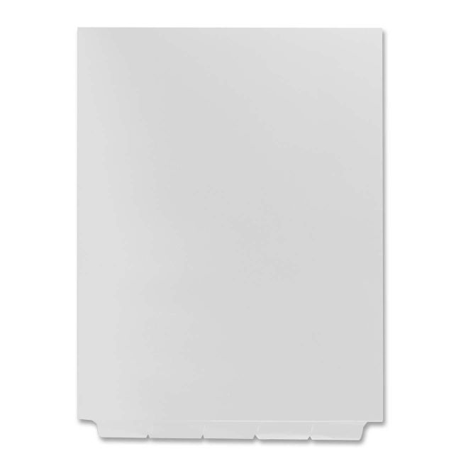 Blank bottom tab dividers