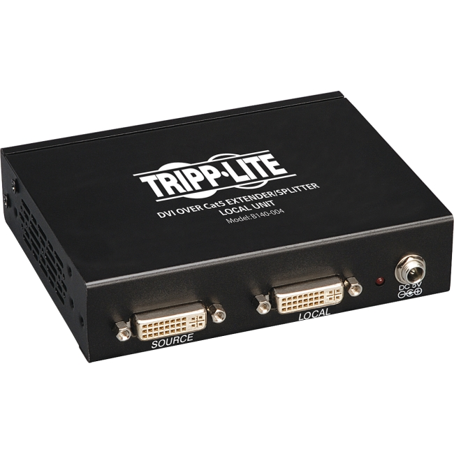 Tripp Lite DVI over Cat5 Extender/Splitter, 4-Port Local Transmitter Unit B140-004