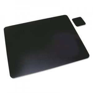 Artistic Leather Desk Pad w/Coaster, 20 x 36, Black AOP2036LE 2036LE