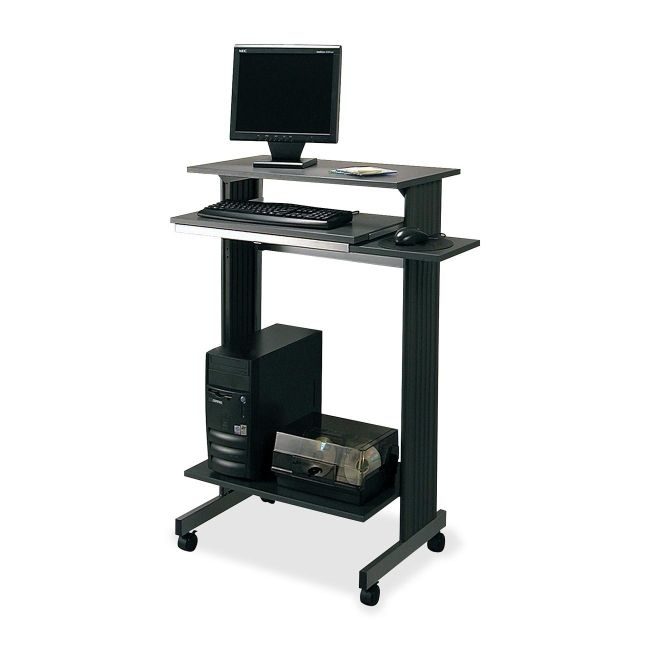 euroflex stand up height fixed workstation buddy 643836 computer workstations components. Black Bedroom Furniture Sets. Home Design Ideas