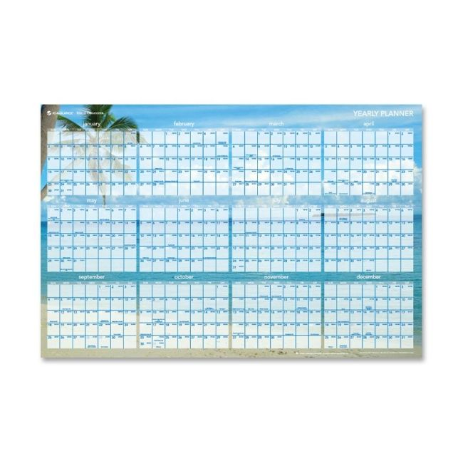 Mead Tropical Erasable Wall Planner DMWTEE28 AAGDMWTEE28