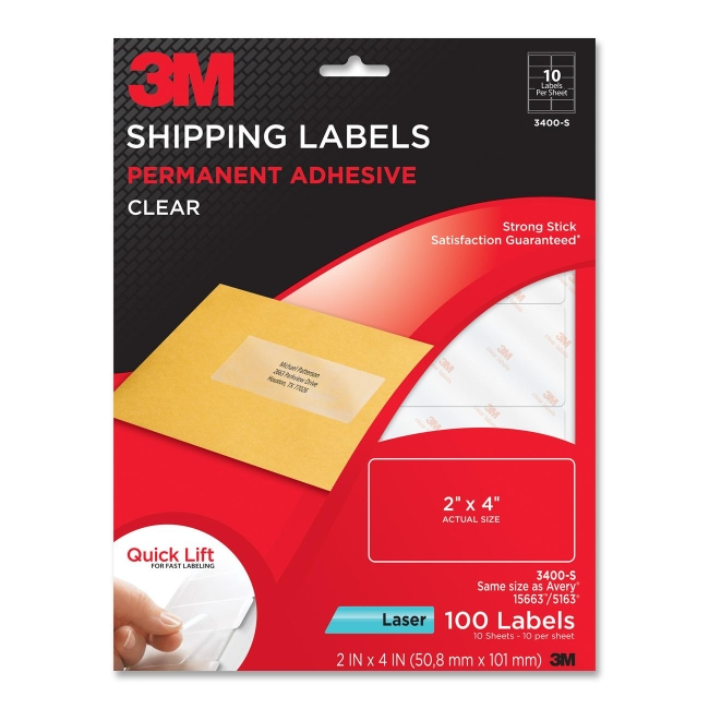 Shipping Label 3M 3400S 3400-S 3M Labels & Labeling Systems