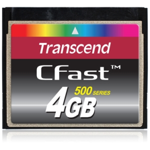 4GB CFast Card Transcend Information, Inc TS4GCFX500