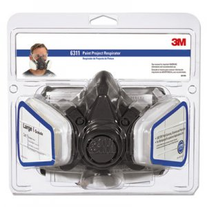 3M Half Facepiece Paint Spray/Pesticide Respirator, Large MMM6311PA1A 6311PA1-A