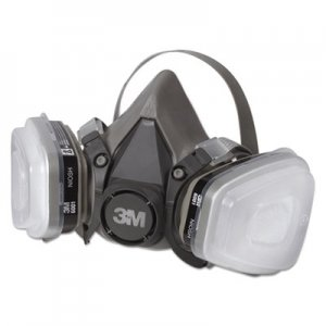 3M Half Facepiece Paint Spray/Pesticide Respirator, Small MMM6111PA1A 6111PA1-A