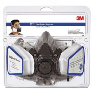 3M Half Facepiece Paint Spray/Pesticide Respirator, Medium MMM6211PA1A 6211PA1-A-NA
