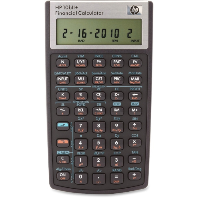 HP 10BIIPlus Financial Calculator NW239AA#ABA 10bII+