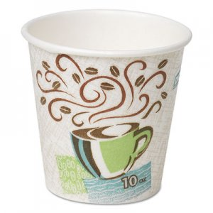 Dixie Hot Cups, Paper, 10oz, Coffee Dreams Design, 25/Pack DXE5310DXPK 5310DX