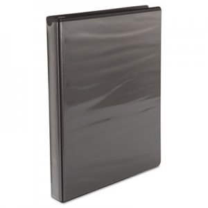 "Samsill Speedy Spine Round Ring View Binder, 11 x 8-1/2, 1"" Cap, Black SAM18130C 18130C"
