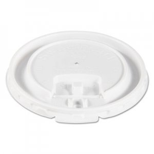 Dart Liftbk & Lock Tab Cup Lids for Foam Cups, Fits 10oz Cups, White, 2000/Carton SCCDLX10R DLX10R-00007