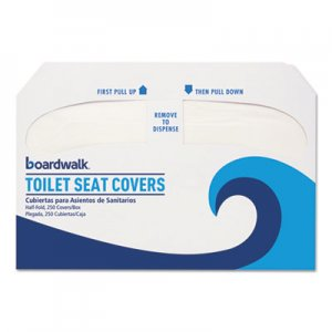 Boardwalk Premium Half-Fold Toilet Seat Covers, 250 Covers/Sleeve, 20 Sleeves/Carton BWKK5000