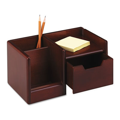 Rolodex wood tones handheld electronics organizer 10 x 6 - Wooden desk organizer with drawers ...