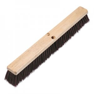 "Boardwalk Floor Brush Head, 3 1/4"" Maroon Stiff Polypropylene, 24"" BWK20324"