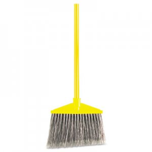 "Rubbermaid Commercial Angled Large Broom, Poly Bristles, 46 7/8"" Metal Handle, Yellow/Gray RCP637500GY FG637500GRAY"