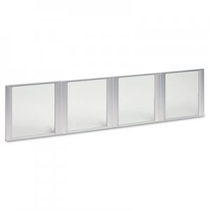 "Alera Glass Door Set With Silver Frame For 72"" Wide Hutch, Clear, 4 Doors/Set ALEVA301730"