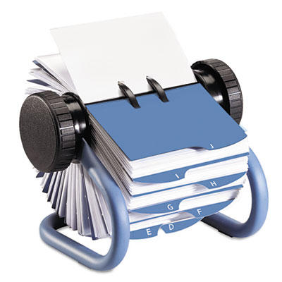 Rolodex Colored Open Rotary Business Card File with 24 Guides, Blue ROL63299 ROL63299 63299