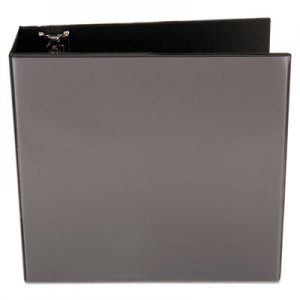 "Genpak Slant-Ring View Binder, 4"" Capacity, Black UNV20995"