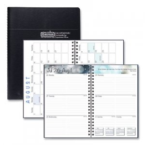 House of Doolittle Recycled Academic Weekly/Monthly Appointment Book/Planner, 5x8, Black, 2018-2019 HOD27502 275-02