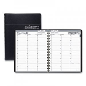 House of Doolittle Recycled Professional Weekly Planner, 15-Min Appointments, 8.5 x 11, Black, 2019 HOD27202 272-02