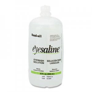 Honeywell Fendall Eyesaline Eyewash Saline Solution Bottle Refill, 32 oz FND3200045500EA 3200045500