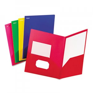 Oxford Fashion PolyPort Twin-Pocket Portfolio, Polypropylene, Assorted, 25/Box OXF99810 99810
