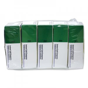 "First Aid Only Instant Cold Compress, 5 Compress/Pack, 4"" x 5"", 5/Pack FAOB5035 B-503"
