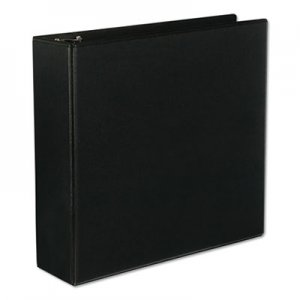 "Genpak Slant-Ring Economy View Binder, 3"" Capacity, Black UNV20747"