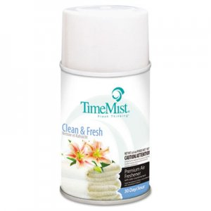 TimeMist Metered Fragrance Dispenser Refills, Clean N Fresh, 6.6oz Aerosol, 12/Carton TMS1042771 332502TMCACT