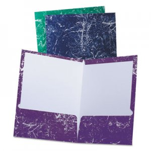 Oxford Marble High Gloss Portfolio, Charcoal/Green/Navy/Purple OXF50190 50190EE
