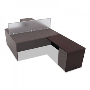 Alera Valencia Series Reversible Return/Bridge Shell,47 1/4w x 23 5/8d, Mahogany ALEVA354824MY
