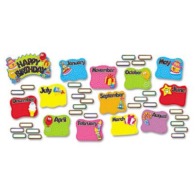 Happy Birthday Mini Bulletin Board Set TREND® T8709MP TEPT8709MP ...