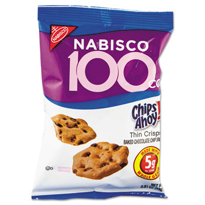 Nabisco 100 Calorie Chips Ahoy Chocolate Chip Cookie, 6/Box CDB05343 05343