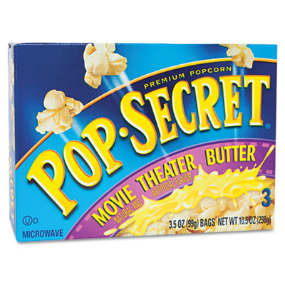 Pop Secret Microwave Popcorn, Movie Theater Butter, 3.2oz Bags, 3/Box DFD57690 57690