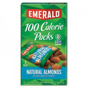 Emerald 100 Calorie Pack All Natural Almonds, 0.63oz Packs, 7/Box DFD34325 34325