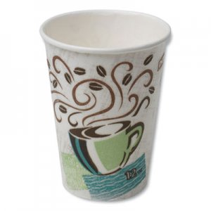 Dixie Hot Cups, Paper, 12oz, Coffee Dreams Design, 50/Pack DXE5342CDPK 5342CD