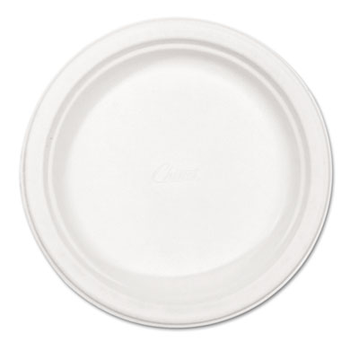 "Chinet Classic Paper Plates, 8 3/4"" dia, White, 125/Pack HUH21237PK HUH21237"