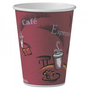 Dart Bistro Design Hot Drink Cups, Paper, 12oz, 300/Carton SCCOF12BI0041 OF12BI-0041