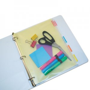 Angler's Zip-All Ring Binder Pocket, 8 1/2 x 11, Clear AVTANG52 AVT-ANG52