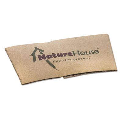 NatureHouse Hot Cup Sleeves, Fits 10oz, 12oz, 16oz, 20oz Cups, 50/Pack SVAS02 NAH-S02