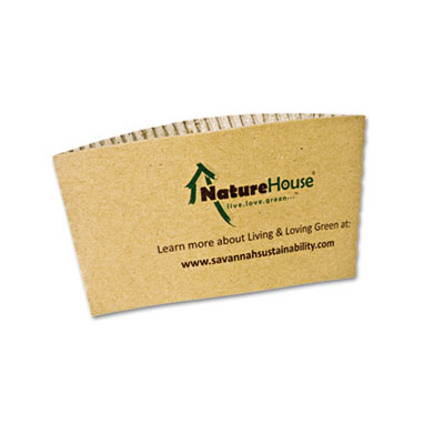 NatureHouse Hot Cup Sleeves, Fits 8oz Cups, 1000/Carton SVAS01 NAH-S01