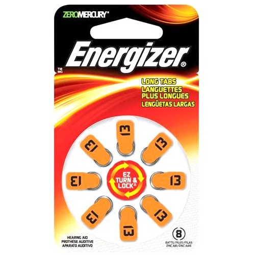 Energizer Coin Cell Hearing Aid Battery AZ13DP-8 AZ13DP