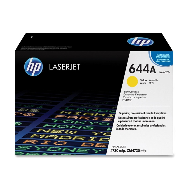 HP 644A Yellow Original LaserJet Toner Cartridge for US Government Q6462AG
